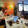 Guri Romtveit busy preparing for the official launch of Workspace. Photo: NRC/Ingebjørg Kårstad