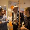 Andrew Garney from the Workspace team in London in conversation with Geir Olav Lisle and Tuva Raanes Bogsnes. Photo: NRC/Ingebjørg Kårstad