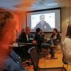 Secretary General, Jan Egeland, with video greeting to all staff. Photo: NRC/Ingebjørg Kårstad