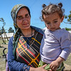 Naila (from left), her little child Iman (2) are waiting in Cherso camp in Greece. Photo: Tiril Skarstein, NRC. <br /> <br /> Naila is pregnant. She is Kurdish and from Syria. She hopes to get to Germany before giving birth. But the refugees are meeting closed borders.  <br /> -It is no good for the children here. <br /> -I am pregnant, and I am so tired. <br /> -We need to shower and we want a proper place to stay. <br /> -The children will get sick here. <br /> -My family is in Germany. I hope we can get there.