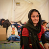 Nalia (14) from Waziristan in Pakistan at Souda camp, Chios. Photo: Tiril Skarstein, NRC<br /> <br /> Quotes:<br /> It is very bad here. I am very tired, we have no clean clothes and only soup to eat. <br /> I hope we will be able to go to Germany.<br /> <br /> She is studying at 9th grade and want to continue her studies in Europe.