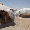 NRC is present in Al Iraq camp in Amiriyat Al- Fallujah, Anbar providing newly displaced families from Anbar and Fallujah with water, food parcels and hygiene kits. <br /> <br /> Photo: NRC/Becky Bakr Abdulla
