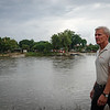 "Walking along the ""Suchiate"" river banks."