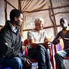 When ethnic conflict broke out, Tarik Jabo was attacked by a young man in the marked. The man chopped off Tarik's arm. Secretary General Jan Egeland met with displaced people originally from Gedeo and West Guji, now residing in dire conditions in the Kera displacement site in Dilla Town, Hawasa. <br /> <br /> Photo: Becky Bakr Abdulla/NRC