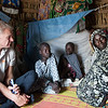 Jan Egeland visits Monguno where NRC runs shelter and WASH programmes for IDPs displaced by conflict.<br /> <br /> Photo credit: Mohammed Bukar<br /> Date: 11 October 2017
