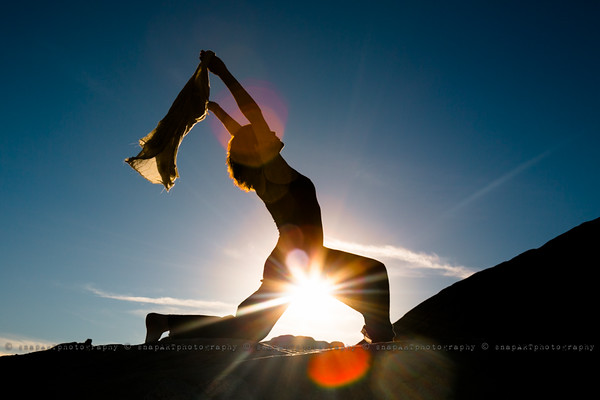 Risa Sunset Silhouette Yoga session