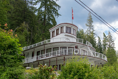 SS Nasookin, now a landlocked private home, formerly used to transport Japanese-Canadians to Kaslo, BC from Vancouver.