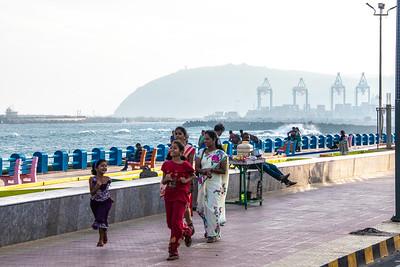 "Walking along their ""embarcadero"" to the Hindustan Shipyard"