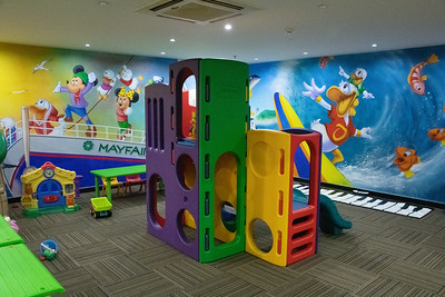 SHOCK - the hotel play room, about as far from India as I could imagine. Kids love it.