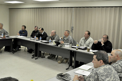 In this image released by the Texas Military Forces, key leaders with Joint Task Force 71 host a scenario-based emergency management exercise in Grand Prairie, Texas, Monday, Jan. 31, 2011. During the exercise, participants from the Department of Homeland Security, the Environmental Protection Agency, and other military and civilian organizations discussed new ways to integrate capabilities in the event of a state or national emergency. The exercise was part of a multi-agency effort to promote better communications and solidify common goals to provide emergency response capabilities as well as support for Super Bowl 45 activities. (Photo/100th Mobile Public Affairs Detachment, Army National Guard 1st Sgt. Tad Browning)