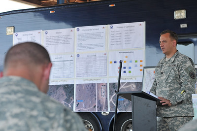 In this image released by the Texas Military Forces, key leaders with Joint Task Force 71 participated in an annual training plan review in Austin, Texas July 9, 2011.  Representatives were on hand from the 836th Engineers, 436th Chemical Company 236th Military Police and the medical group from the Air National Guard to review their daily plan for completing their upcoming training. Annual Training normally consists of two weeks worth of Soldier Skills training. However, JTF-71 is also using their time on Camp Swift preparing for their external evaluation as a Homeland Response Force in October. (Photo/Joint Task Force 71, Army National Guard Staff Sgt. Melissa Bright)