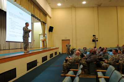In this image released by the Texas Military Forces, leaders from Headquarters Joint Task Force 71 deliver orientation information to National Guard Soldiers arriving for a two-week annual training event at Fort Wolters, Texas, Tuesday, Jan. 25, 2011. JTF 71, based in Austin, established a center of operations earlier in the week in the Dallas/Fort Worth area as part of a mission to provide support to Super Bowl 45. Speeding the transition from civilian to Soldier improves the mobility and agility of the members of JTF 71 when called upon to support civilian authorities.  (Photo/Joint Task Force 71, Army National Guard Sgt. Melissa Shaw)