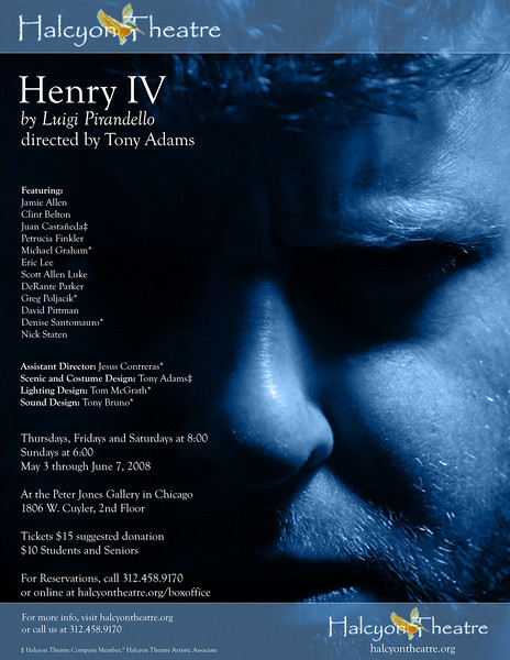 Henry IV Production Poster - Halcyon Theatre