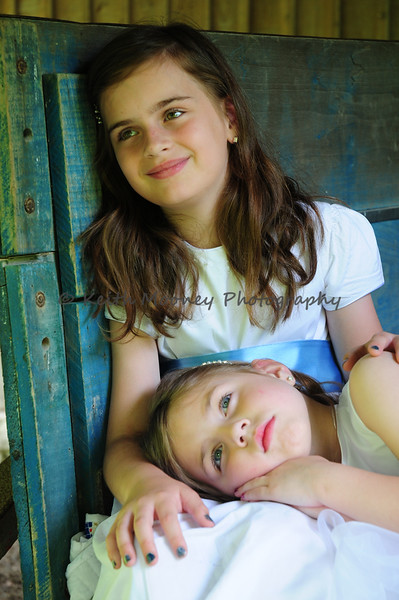 Lora Grace & Hannah at the Norris Dam State Park's Threshing Barn.