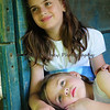 Lora Grace & Hannah at the Norris Dam State Park's Threshing Barn.