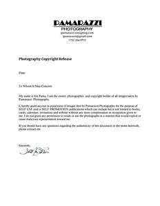 PAMARAZZI Copyright Release Form