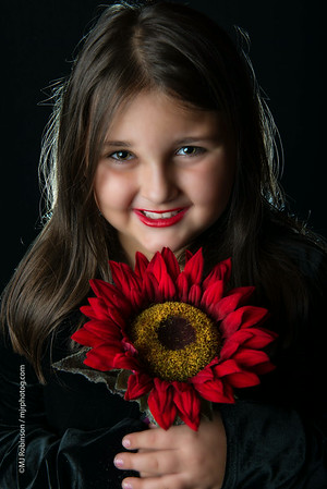 Beautiful Girl With Flower.
