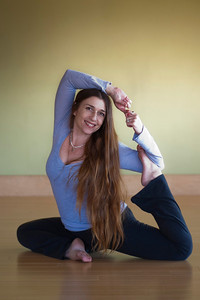 HERMOSA BEACH , CALIFORNIA — Valinda Cochella, Director of Teacher Training, Cloud Nine Yoga, South Bay branch. Photo taken at Lyfe Yoga Center, 1310 Pacific Coast Highway by Tom Sorensen Tuesday February 10th, 2009.