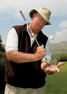"""""""Secret"""" Golf Pro Gregg McHatton at the Angeles National Golf Club, Sunland California. Photos taken by Tom Sorensen for Variety Weekend, May 17th, 2006."""