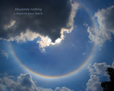 Circular Rainbow with quote
