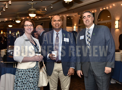 Hillary Wendell, left, Sid Ramotar and Chad Stoffer from TD Bank