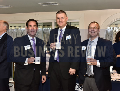 Dave DeMarco of Saratoga National Bank, left, Michael Murray of Whiteman Osterman & Hanna and Paul Petell of BST