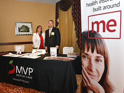 Courtney Woods and Brian Mulvey from MVP Health Care