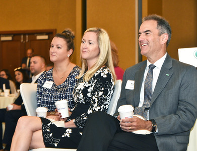 Stephanie Hadcock, left, Ali Skinner and Brian O'Grady from CDPHP