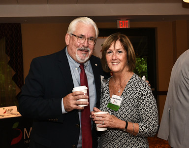 Joe Monahan from Fusco Personnel and Carole Montepare from MVP Health Care