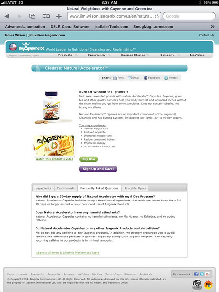 """If you are ready to """"Get with the Health and Wellness Program"""" click onto the links below... The opportunities are endless for Isagenix. The company is continuing to introduce Isagenix and its products to influential celebrities and athletes, in effort to get your attention. Learn more about celebrities and athletes who are checking out the Isagenix site. This link will take you our internet site, take a look ...   <a href=""""http://Jim.Wilson.isagenix.com/us/en/home"""">http://Jim.Wilson.isagenix.com/us/en/home</a>.  <a href=""""http://Jim.Wilson.isagenix.com/us/en/signup.dhtml"""">http://Jim.Wilson.isagenix.com/us/en/signup.dhtml</a> ."""