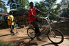 Children play at the Nyumbani Children's Home in Nairobi, Kenya, Nov. 26, 2005. Founded in 1992, is an active response to the rising number of HIV infected children born in Africa every day. Because infants carry many of their mothers' antibodies through their first year of life, a number of newborns with infected mothers may give a 'false positive' and never actually develop the disease themselves. In fact, a full 75% of babies who test positive at birth will eventually be found not to have the virus. At Nyumbani, 'home' in Swahili, children are cared for until a definite assessment of their HIV status can be made. Children who are eventually found not to have the virus are adopted or find other homes. Children who are found to be HIV+ are given the best nutritional, medical, in particular, anti-retroviral therapy, psychological, academic, spiritual care available and live at Nyumbani until they become self-reliant. Approximately 100 children from newborn to twenty-three years live at the home.(Australfoto/Douglas Engle)