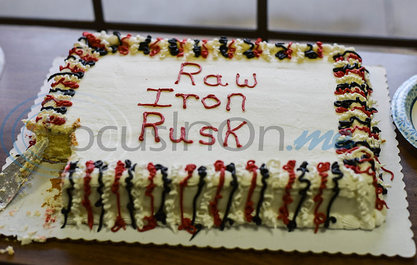 A cake was on hand to help celebrate the Grand Opening of Raw Iron Gym in Rusk. The gym, located at 981 W 6th Street offers 24-hour access, group classes, nutrition program, personal training and discounts for teachers and first responders. (Jessica T. Payne/Tyler Morning Telegraph)