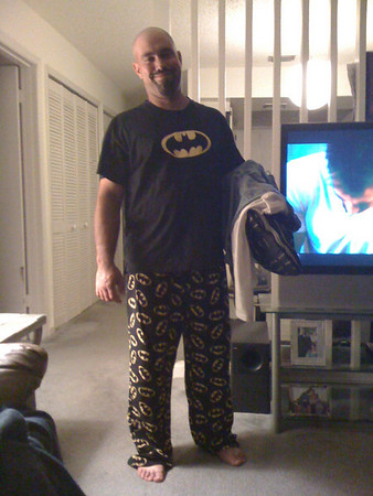 Dave in his PJ's