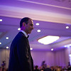 Payam Aghassi, MD, Mass Lung and Allergy, walks toward the podium for opening remarks during a Gala hosted by UMass Memorial - HealthAlliance Hospital on Saturday at the Double Tree in Leominster.  Sentinel & Enterprise photo/Jeff Porter