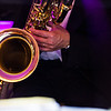 A baritone sax plays on stage during Saturdays Gala hosted by UMass Memorial -  HealthAlliance Hospital at the Double Tree in Leominster.  Sentinel & Enterprise photo/Jeff Porter