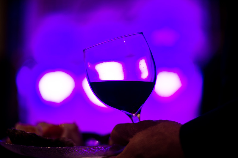 A wine glass in front of of an ice sculpture during the UMass Memorial - HealthAlliance Hospital Gala on Saturday at the Double Tree in Leominster.  Sentinel & Enterprise photo/Jeff Porter
