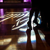 "A couple dance as the floor illuminates with the word ""Gala"" on Saturday inside the ballroom at the Double Tree in leominster.  Sentinel & Enterprise photo/Jeff Porter"