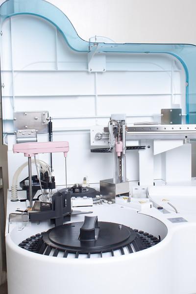 Laboratory hi tech medical equipment. Automated Machinery.