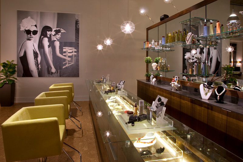 Upscale Fun Hair Salon located in Grand Hyatt Seattle Washington