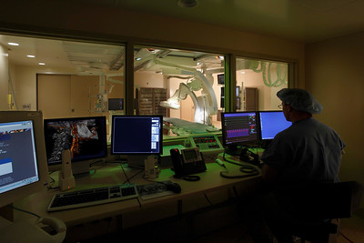 Diagnostic Imaging, Angiography control room