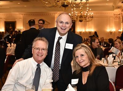 HVCC president Andrew Matonak, center, with William Reuter and Karen Paquette