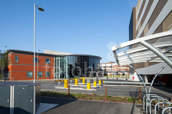 Blackpool Victoria Hospital -  entrance and multi-storey car park