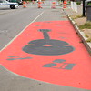 Volunteers helped paint wider curbs and colorful crosswalks on North Clinton Avenue Sept. 29, 2019, during the Complete Streets Makeover. A complete street is a street that is safe and accessible for all users, including bicyclists and pedestrians.