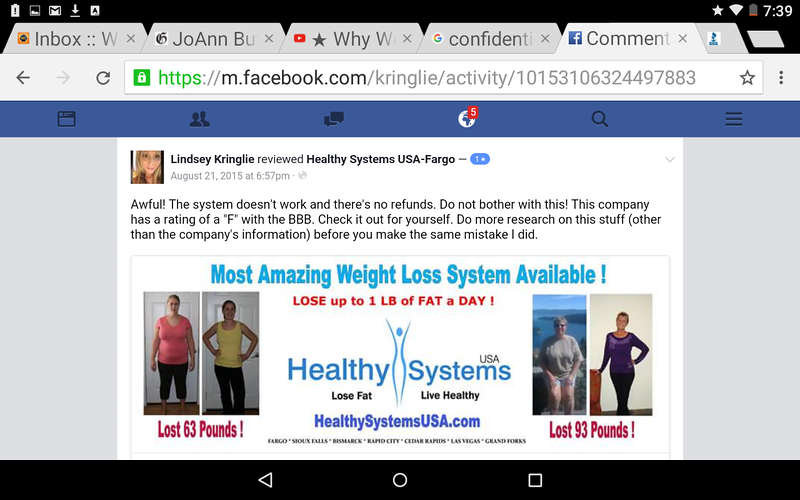 there are numerous UNHAPPY customers of Healthy Systems USA . This review is on the healthy Systems USA facebook page.