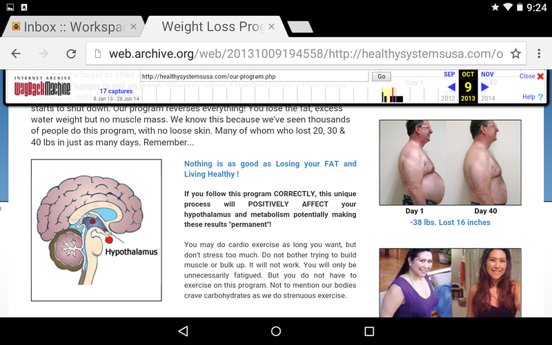 Healthy Systems USA screenshot 10/9/2010