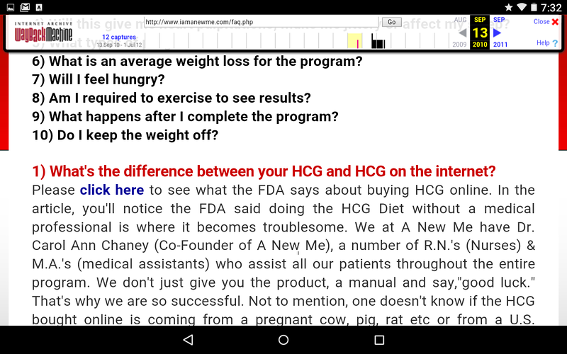 I Am A New / Bouari Clinic claims the HCG ingredient in Sept. 2013