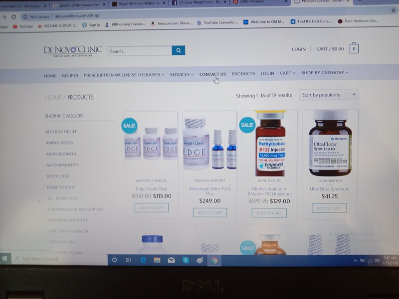 Denovo Clinic obviously carried the BOUARI CLINIC PRODUCTS: They are CLOSED due to admissions of FRAUD: https://www.courthousenews.com/6-7-million-award-in-weight-loss-fraud/