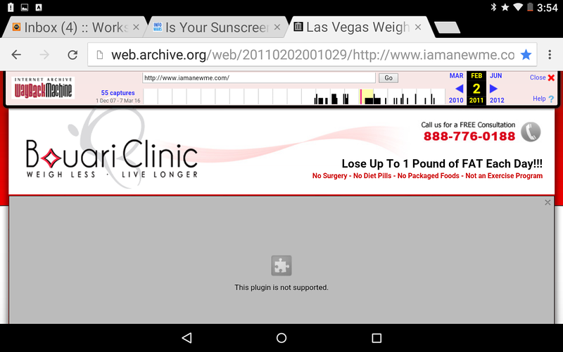 This screen shot shows that Bouari Clinics were previously named A NEW ME, see the URL of the page. A NEW ME was involved in the $6.7 million dollar Judgment and found to be a fraudulent weight loss business identical to Bouari Clinics.