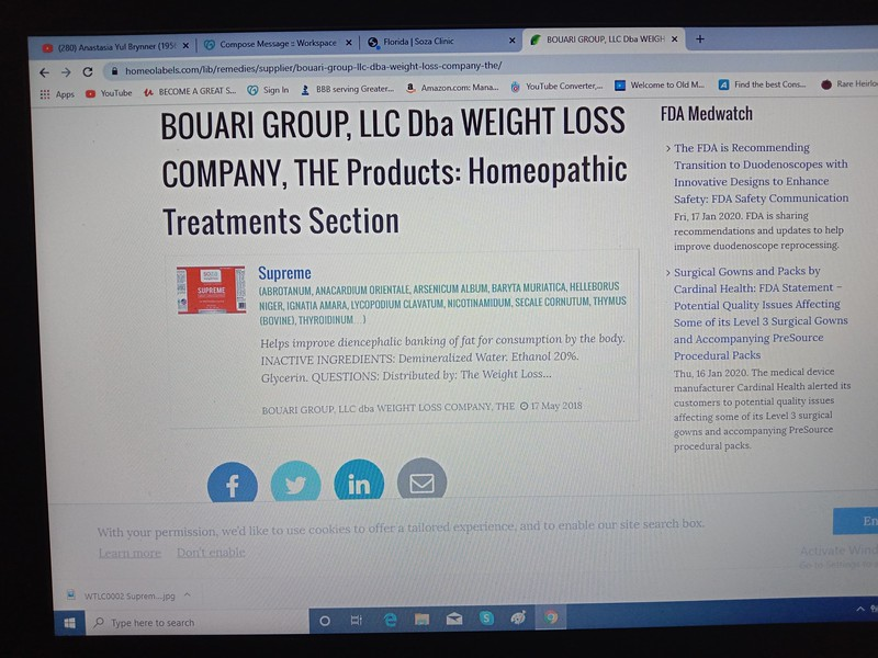 BOUARI GROUP is marketing the SUPREME oral spray, formerly called BOUARI ADVANTAGE.
