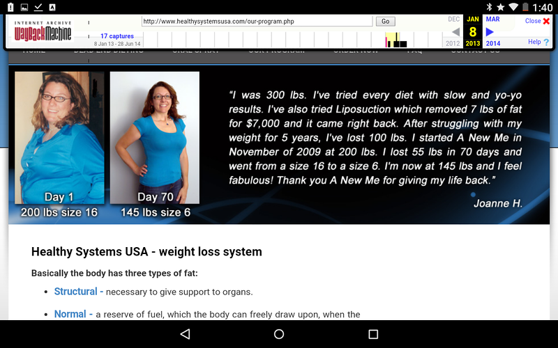 Jan. 8th 2013 Healthy Systems website